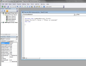 Visual Basic Excel